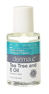 Derma E Tea Tree and E Oil 1 oz, EXP 7/2019