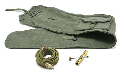 British Lee Enfield Sling Brass Oiler and Canvas Carry Case OD