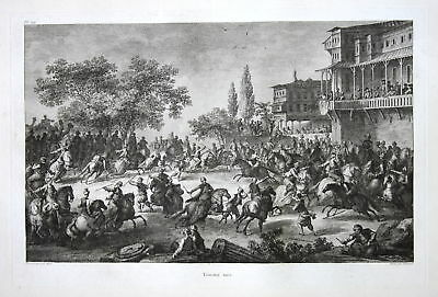 1781 Kampf Schlacht battle fight Turkey Türkei Kupferstich antique print  156810