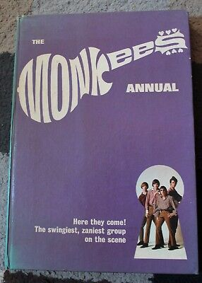 The MONKEES Annual 1967 RARE Very Good Condition VINTAGE Book Not Clipped MUSIC