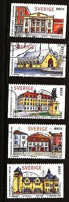 Sweden 1998 Traditional Buildings Complete Set Used