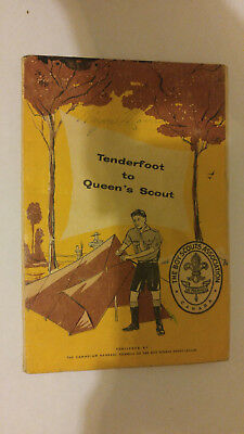 National Council Boy Scouts of Canada Tenderfoot to Queen's Scout 1958