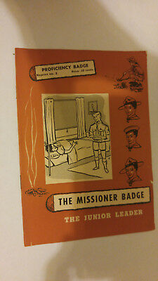 National Council Boy Scouts of Canada The Missioner Badge Proficiency Badge