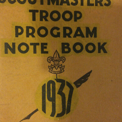 Boy Scouts of America BSA Scoutmaster's Troop Program Note Book 1937