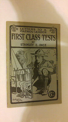 Scout Association London Letters to a Patrol Leader First Class Tests S. Ince