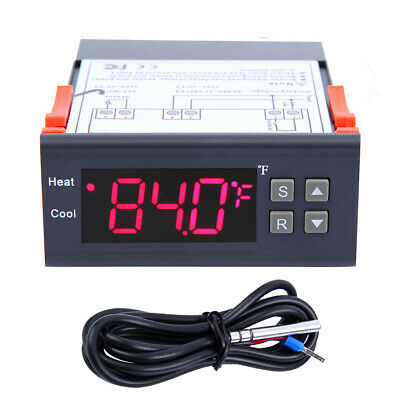 12V LCD Fahrenheit Temperature Controller Thermostat w/NTC Air Humidity Control