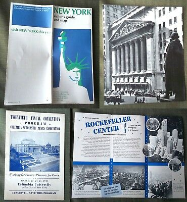 New York City Stock Exchange 1930's Press Assoc WWII Rockefeller Ctr Visitor Map