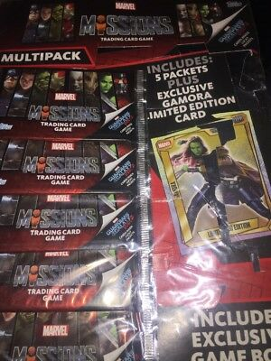 Topps Marvel Missions Trading Cards 5 x Multipacks = 25 Packets plus Limited Edi
