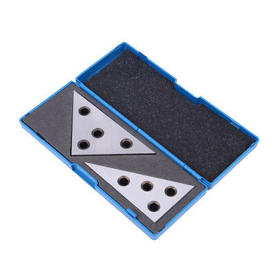 2Pc Solid Precision 30-60-90 Degree and 45-45-90 Degree Angle Plates Inspection