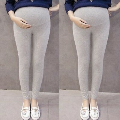 Pregnant Women's Pants Solid Color And Thin Maternity Pregnancy Trousers L/2XL