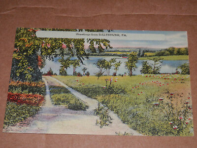 Saltsburg Pa - Old Postcard - Indiana County - Slickville - Delmont - Crabtree