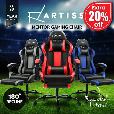 Artiss Gaming Chairs Office Computer Seating Racing Executive Racer Footrest