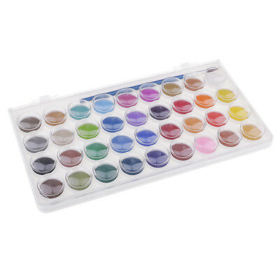 36 Colors Artist Solid Watercolor Paints Pigment Set with Painting Brush Kit