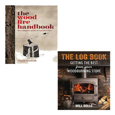Wood Fire Handbook 2 Books Collection Set Log Best From Your Woodburning Stove