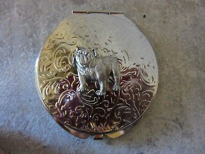 Lovely English Bulldog Etched Two Mirror Compact-Very Limited Edition