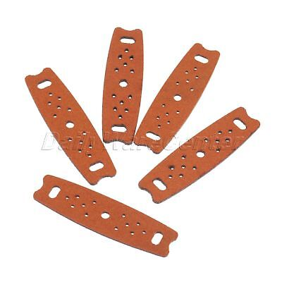 Anti-skid Leather Slingshot Pouches Light Hunting Parts W Multi Holes 5/10/20pk