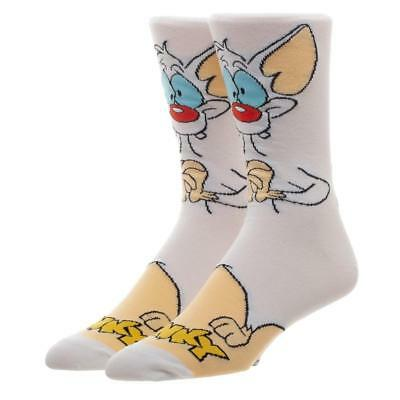 Animaniacs Pinky and the Brain Character Pinky Crew Socks