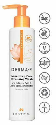 Derma E Very Clear Acne Cleanser with 2% Salicylic Acid, 6 fl oz EXP 10/2019