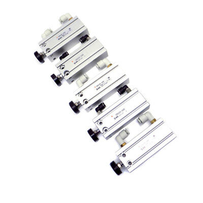(Lot of 5) SMC CDU20-50D Compact Air Cylinders, 50mm Stroke, 20mm Bore