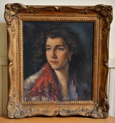 Josy Pirson (1911-79) FINE PORTRAIT OIL PAINTING of BEAUTIFUL WOMAN dated 1953