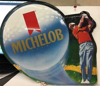 Michelob Beer Sign Golf  Club Pga Tour Game Room Bar Rec Room Golfing 26""