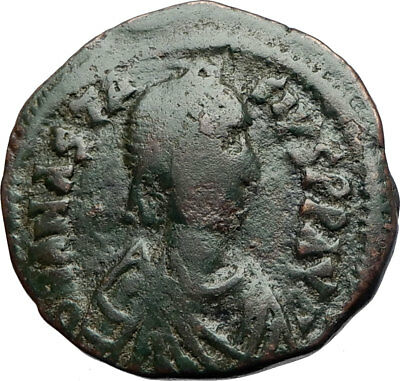 ANASTASIUS Authentic Ancient Constantinople Half Follis Byzantine Coin i71045
