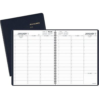 "AT-A-GLANCE Weekly Appt Planner, Jan 19 - Jan 20 Navy 7095020.8 1/4"" x 10 7/8"""