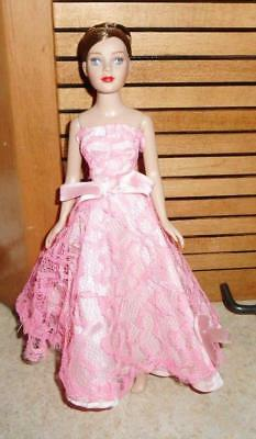 Pink Strapless Gown w/Bow Accents for Tiny Kitty Doll
