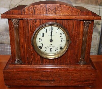 Seth Thomas Sonora Chime On 4 Bells Antique Adamantine Mantle Clock