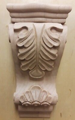 New Cherry Corbel-A-7CH Unfinished Low Profile Acanthus Hand Carved Wood Cabinet