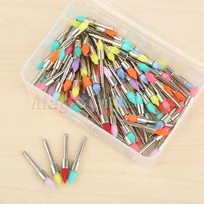 100pcs Mixed Color Taperd Polisher Lab Clinic Dental Prophy Brushes Polishing