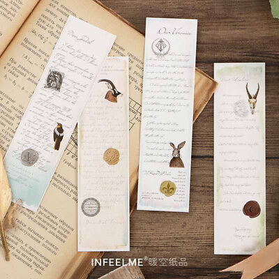30pcs Sealed With Kiss Creative Bookmark Book Mark Magazine Note Label Memo New
