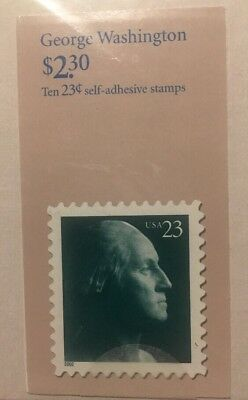 George Washington United States Postage Stamps Book Of Ten .23 Stamps