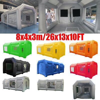 26x13x10Ft(8x4x3m) Inflatable Spray Booth Custom Tent Cabin Direct Car Paint