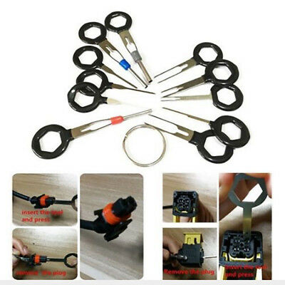 11Pcs Terminal Removal Tool Connector Pin Extractor Car Electrical Wiring Crimp