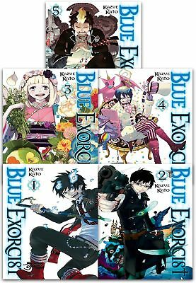 Blue Exorcist Volume 1-5 Collection 5 Books Set (Series 1) Children Manga Books