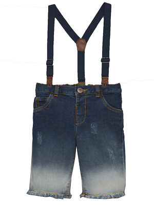 Mini V by Very Boys Denim Shorts With Navy Braces