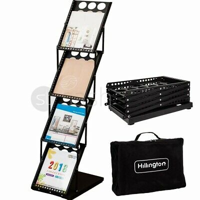 A4 Folding Exhibition Stand Literature Brochure Rack Show Display Leaflet Holder
