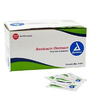 144 Bacitracin Ointment Box of 144 packets First Aid Kit Refill Antibiotic
