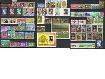 (661) St Lucia 1938-1982 Mh Collection Cat £31+