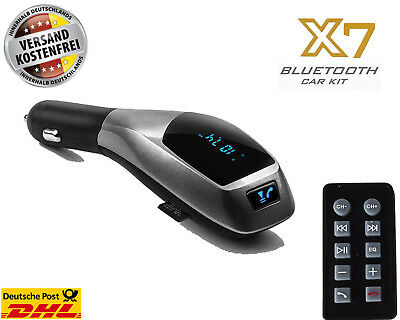 X7 Bluetooth Car Kit MP3 Player Wireless FM Transmitter Radio LCD USB