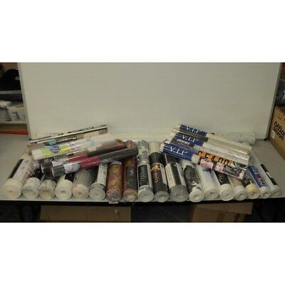 Job Lot 50 x Rolls Assorted New Wallpaper Various Designs F5JF