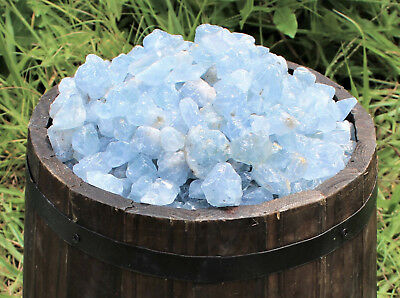500 Carat Lot Rough Natural CELESTITE (Raw Sky Blue Crystal Gemstones 100 Grams)