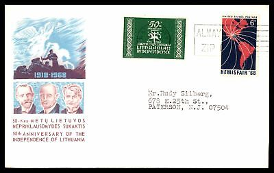 Independence Of Lithuania 50Th Anniversary 1968 Cachet On Cover With Demand Free