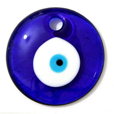 Large Turkish Blue Evil Eye Amulet Wall Hanging Decor Protection Blue Glass Luck