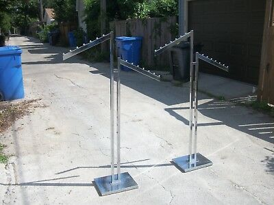 Two Adjustable Chrome Coat Racks Department/Retail Store Grade Local Pickup Only