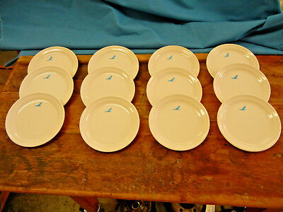 Piedmont Airlines Lot Of 12, 5'' Plates With Speedbird Logo Imprinted On Front.