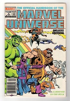 Marvel Comics The Official Handbook of the Marvel Universe #5 Copper Age
