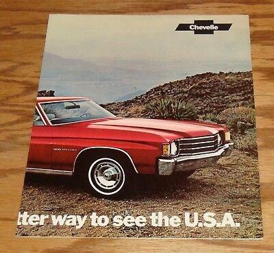 Original 1972 Chevrolet Chevelle Facts Features Sales Sheet Brochure 72 Chevy