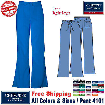 Cherokee Scrubs ORIGINAL Women's Natural Rise Flare Leg Medical Pant(4101)_R